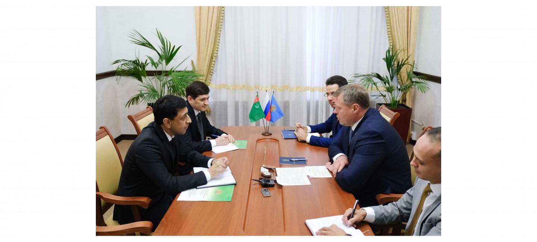 Состоялась ознакомительная встреча Консула Туркменистана с Губернатором Астраханской области