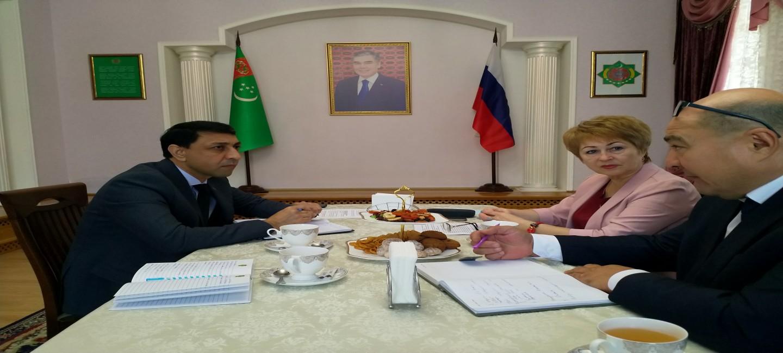 Состоялась встреча Консула Туркменистана с директором Союза «Астраханская торгово-промышленная палата»